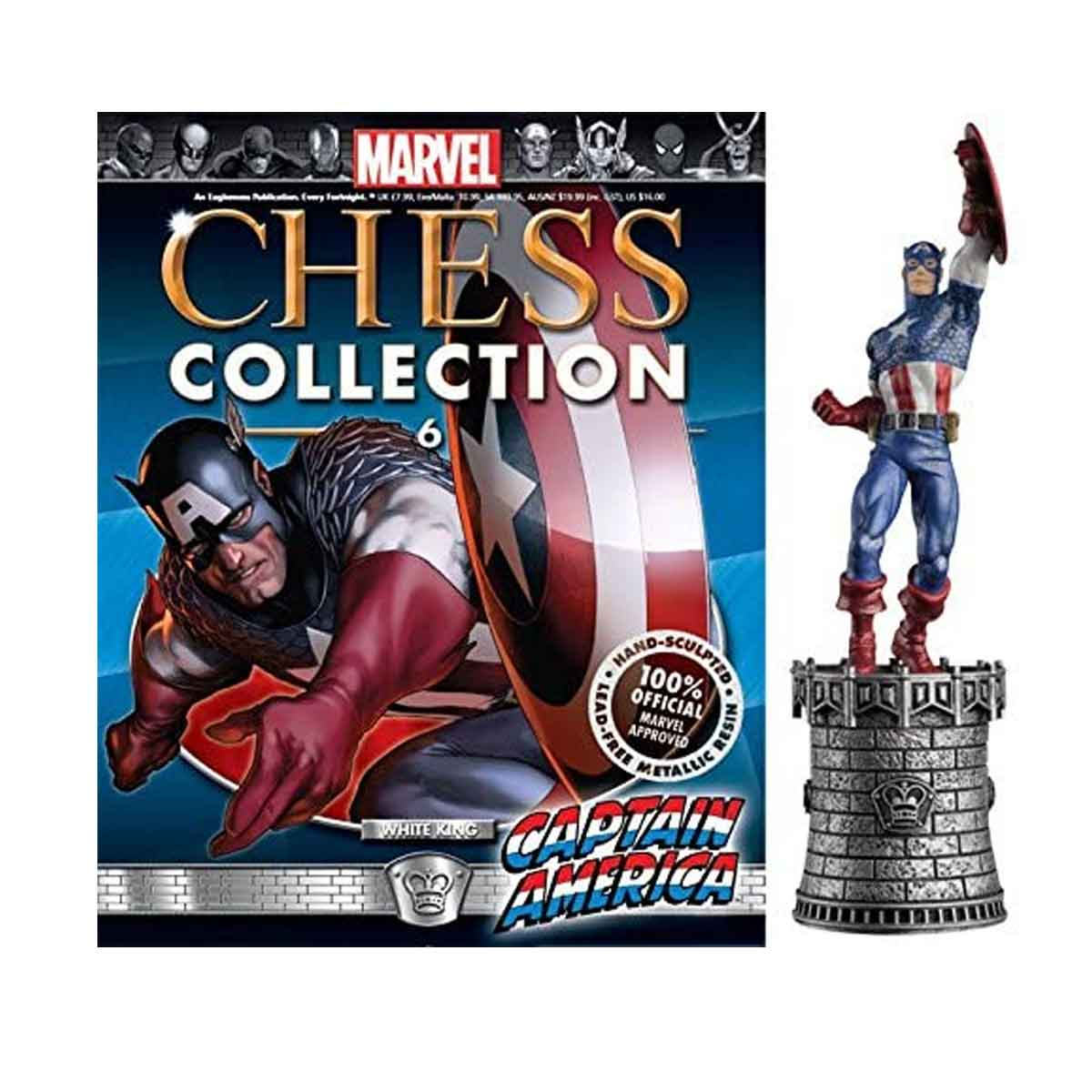 Marvel Chess Figurine Collection Nº 6 Captain America