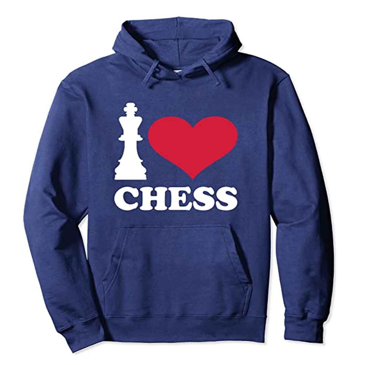 Sudadera con Capucha I Love Chess